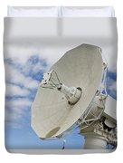 A Radar Dish Aboard Mobile At-sea Duvet Cover