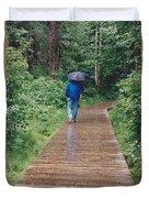 A Rainey Day In Alaska Duvet Cover