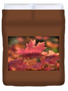 A Red Fall  Duvet Cover