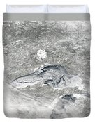 A Relatively Rare Blanket Of Ice Rests Duvet Cover by Stocktrek Images