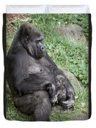 A Relaxed Western Lowland Gorilla Duvet Cover