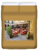 A Restaurant In Sarlat France Duvet Cover