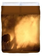 A Roaming Horse In Montana Duvet Cover