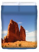 A Rock At Arches Duvet Cover