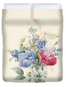 A Rose Anemone Mignonette And Daisies Duvet Cover