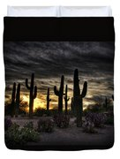 A Saguaro Sunrise  Duvet Cover