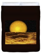 A Scene On A Moon Of Upsilon Andromeda Duvet Cover