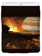 A Scene On Jupiters Moon, Io, The Most Duvet Cover