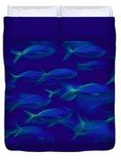A School Of Fusilier Fish, Caesio Teres Duvet Cover