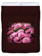 A Sea Of Pink Chrysanthemums Duvet Cover