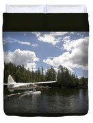 A Seaplane Taking Off From Vancouver Duvet Cover