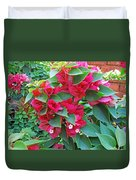 A Section Of Pink Bougainvillea Flowers Duvet Cover