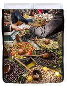 A Selection Of Olives Sit Duvet Cover