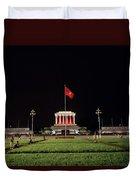 A Serene Ho Chi Minh Mausoleum Duvet Cover