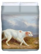 A Setter On The Moor Duvet Cover by Philip Reinagle