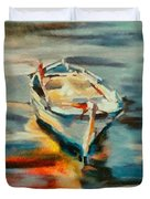 A Single Boat Duvet Cover