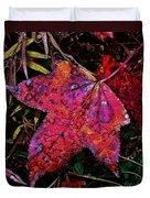 A Single Sweetgum Leaf Duvet Cover