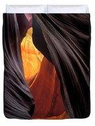 A Slot Canyon View Duvet Cover