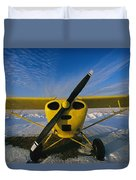 A Small Personal Aircraft Sitting Duvet Cover
