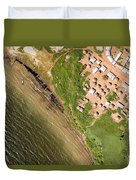 A Small Town On The Northern Shore Duvet Cover