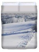 A Snowy Field Duvet Cover