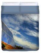 A Solar Panel In The Desert Of South Duvet Cover