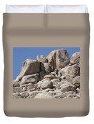 A Soldier Climbs A Mountain Duvet Cover