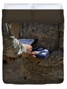 A Soldier Is Presented The American Duvet Cover
