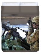 A Soldier Keeps A Close Watch Duvet Cover