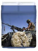 A Soldier Of The British Army Mans Duvet Cover
