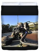A Soldier Scans The Horizon Duvet Cover