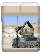 A Soldiier Instructs An Iraqi Army Duvet Cover