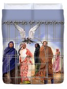 A Song For The Caged Birds Of Mauritania Duvet Cover