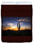 A Sonoran Sunset  Duvet Cover