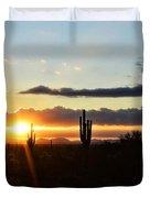 A Southwest Morning  Duvet Cover
