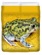 A Spadefoot Toad Duvet Cover