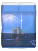 A Star Shines On Alien Architecture Duvet Cover