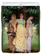 A Summer Shower Duvet Cover by Charles Edward Perugini