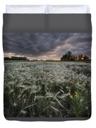 A Summer Sunrise With Storm Clouds Duvet Cover