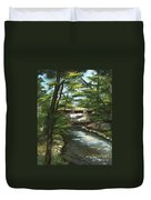 A Summer Walk Along The Creek  Duvet Cover