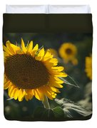 A Sunflower Bows To Its Own Weight Duvet Cover