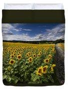 A Sunny Sunflower Day Duvet Cover