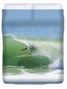 A Surfer Shoots The Curl Duvet Cover