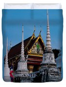 A Temple In A Wat Monestry In Tahiland Duvet Cover