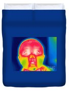 A Thermogram Of A 5 Month Old Baby Duvet Cover
