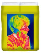 A Thermogram Of A Boy Talking Duvet Cover