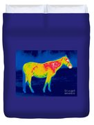 A Thermogram Of A Horse Duvet Cover