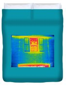 A Thermogram Of A Window Duvet Cover