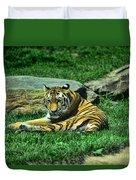 A Tiger's Gaze Duvet Cover