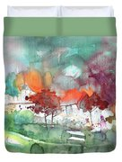 A Town On Planet Goodaboom Duvet Cover